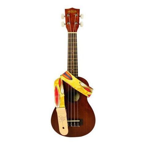 Kala STP-Yellowsurf Ukulele Straps Handmade In Usa