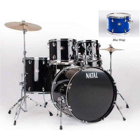Natal DNA UF22 Blue 5 Piece Drumset w/ Hardware & Cymbals
