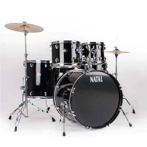 Natal DNA UF22 Black 5 Piece Drumset w/ Hardware & Cymbals