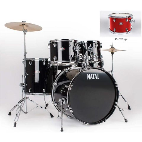 Natal DNA UF22 Red 5 Piece Drumset w/ Hardware & Cymbals