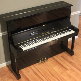 "Yamaha Yamaha U1 48"" Polished Ebony Studio Upright Piano"