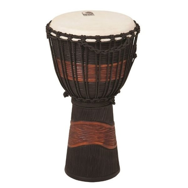 Toca Toca TSSDJ-LB Street Series Rope Tuned Wood Djembe Small Brown and Black Stain