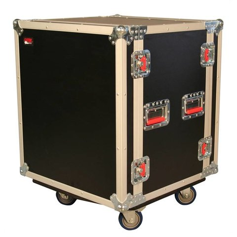 Gator G-TOUR SHK12 CA 12U Shock Audio Road Rack Case w/ Casters