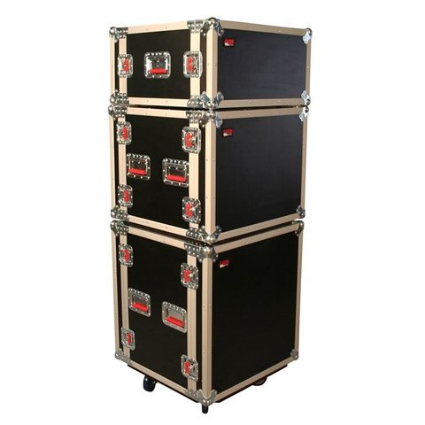Gator G-TOUR SHK8 CAS 8U Shock Audio Road Rack Case w/ Casters