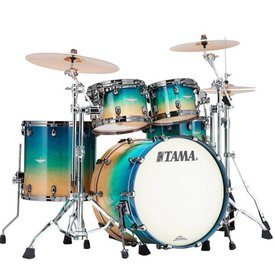 TAMA Tama ME42TZBSGFCB Starclassic Maple Exotix Shell Kit Figured Caribbean Sea Blue