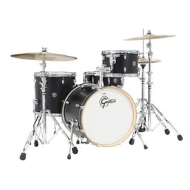 Gretsch Drums Gretsch Drums Catalina Club CT1-J484-FB 4-Piece Drum Shell Pack, Flat Black