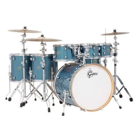 Gretsch Drums Catalina Maple 6-Pc Shell Pack, Aqua Sparkle