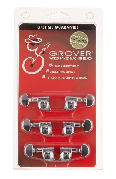 grover grover 406c mini locking rotomatic tuners 3 3 chrome melody music shop. Black Bedroom Furniture Sets. Home Design Ideas