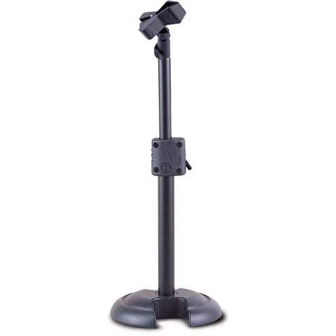 Hercules MS100B ''H'' Base Low Profile Mic Stand, Ez Clip