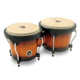 LP LP Aspire Wood Bongos Sunburst w/ Chrome Hardware