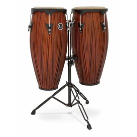 "LP LP City 10"" & 11"" Conga Set - Carved Mango Wood"