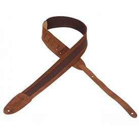 "Levy's Leathers Levy's M12SC-BRN 2"" Cotton Strap w Suede Ends / Trim."