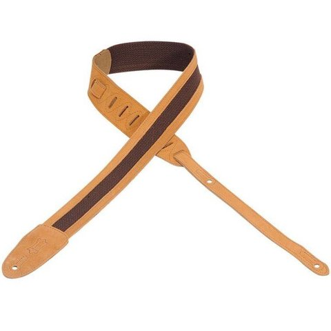 "Levy's M12SC-SND 2"" Cotton Guitar Strap with Suede Ends and Trim"