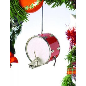"Music Treasures Co. Bass Drum 2.5"" Red Ornament"