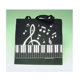 Music Treasures Co. Keyboard/ Clef Tote In Black