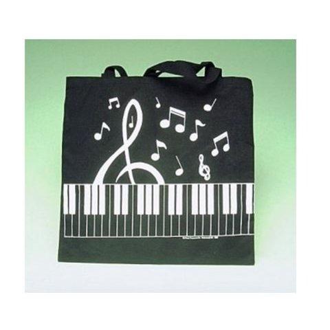 Keyboard/ Clef Tote In Black