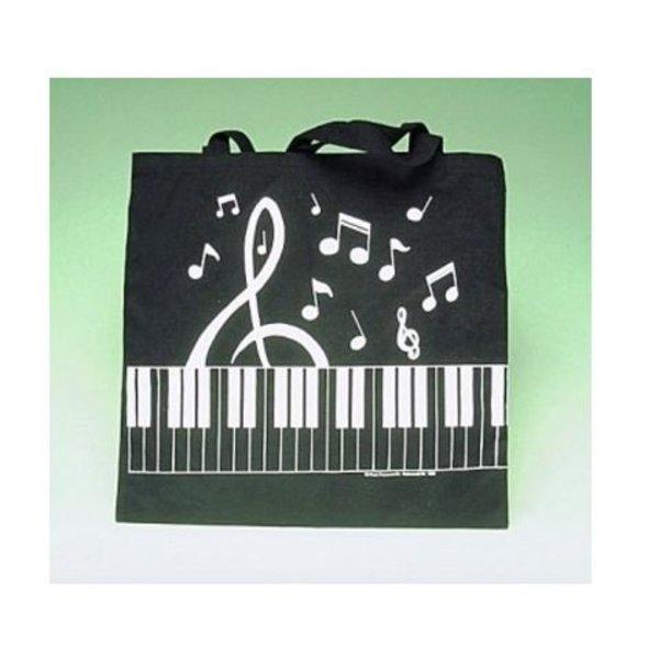 Music Treasures Co. Keyboard/ Clef Tote In Black