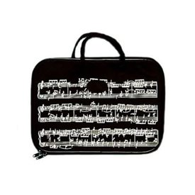 Music Treasures Co. Music Staff Black Briefcase