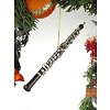 Black Oboe Ornament 6.25""