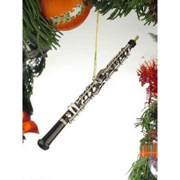 Music Treasures Co. Black Oboe Ornament 6.25""