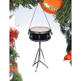 Music Treasures Co. Black Snare Drum Ornament