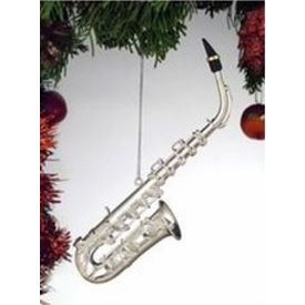 Music Treasures Co. Silver Alto Saxophone Ornament 4.5""