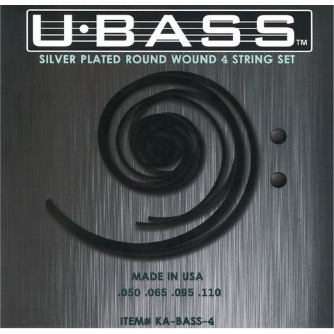 Kala KA-BASS-4 Kala Metal Round Wound 4 String U-Bass Set