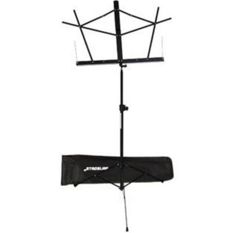 Stageline MS2BKB Music Stand Black with Bag