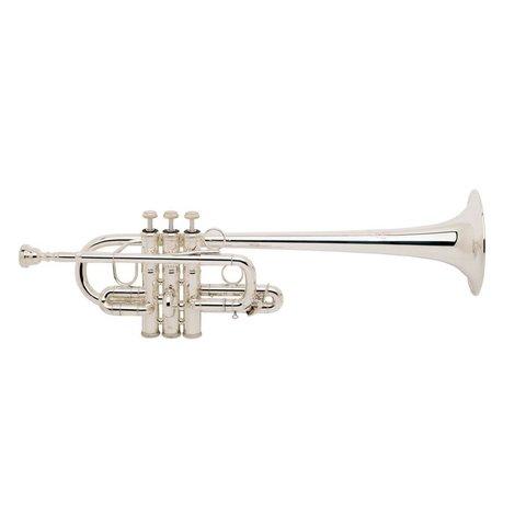 """Bach 189SXL Stradivarius Profess Eb Soprano Trumpet, .462"""" Bore, Silver Plated"""