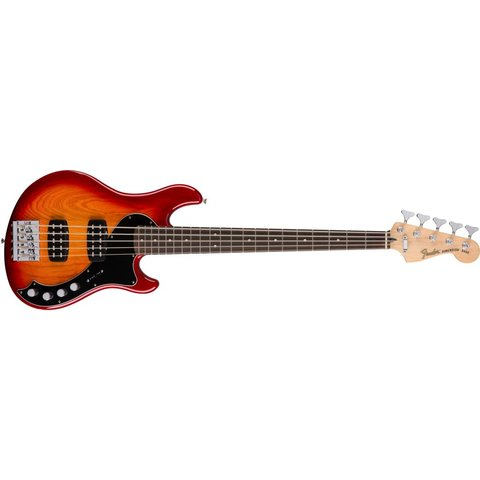 Deluxe Dimension Bass V, Rosewood Fingerboard, Aged Cherry Burst