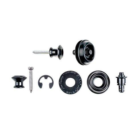 Dunlop SLS1033BK Dual Design Straplok Set Black