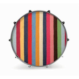 "Evans Evans 22"" Fabric Striped Rug"