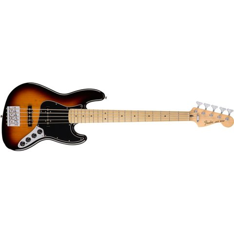 Deluxe Active Jazz Bass V, Maple Fingerboard, 3-Color Sunburst