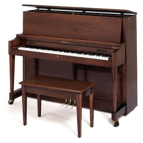 "Baldwin B243 WAL 47"" Institutional Studio in Satin Walnut"
