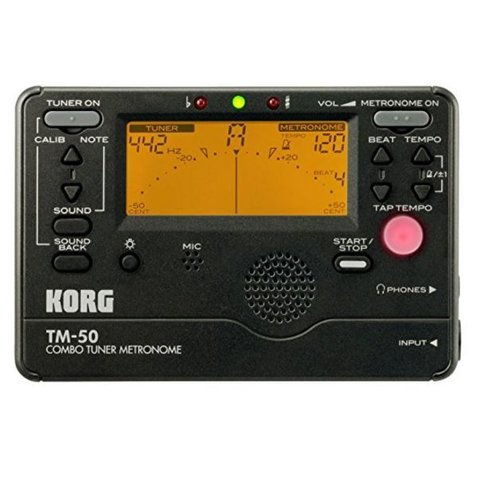 Korg TM50 Full Feature Tuner Metronome Black TM50BK