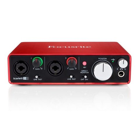 Focusrite Scarlett 2i2 2-in / 2 out 2nd Generation USB Interface