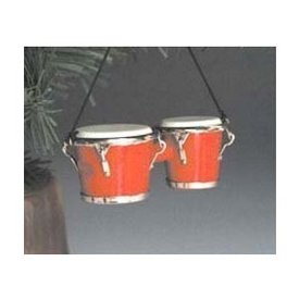 Music Treasures Co. Bongo Red Ornament
