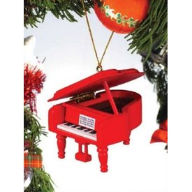 Music Treasures Co. Red Grand Piano Ornament