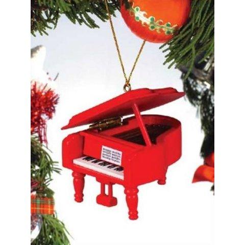 Red Grand Piano Ornament