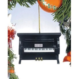 Music Treasures Co. Black Upright Piano Ornament