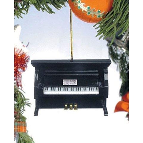 Black Upright Piano Ornament