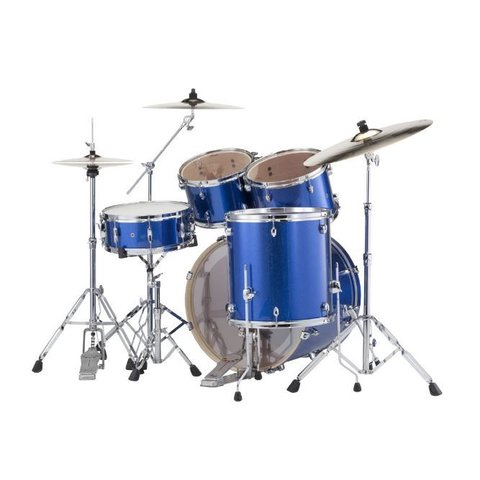 Pearl Drums EXX725-702 EXX Export Series 5-Pc Drum Kit w Hw Blue Sparkle Finish