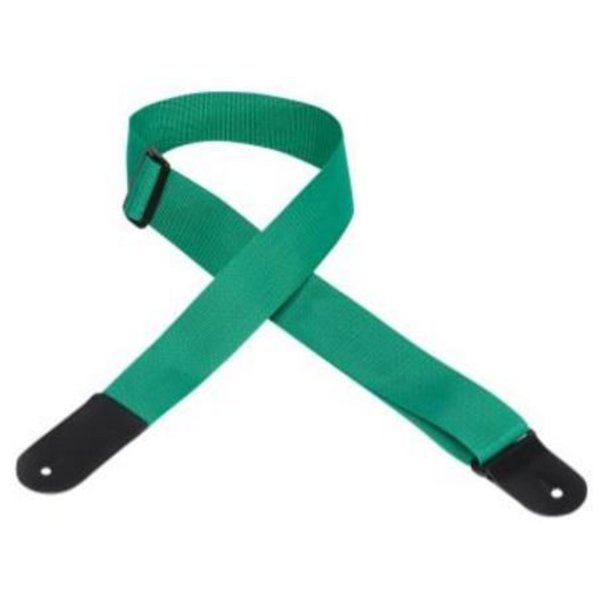 "Levy's Leathers Levy's M8POLYL-GRN 2"" Melody Music Shop LLC logo Strap Green"