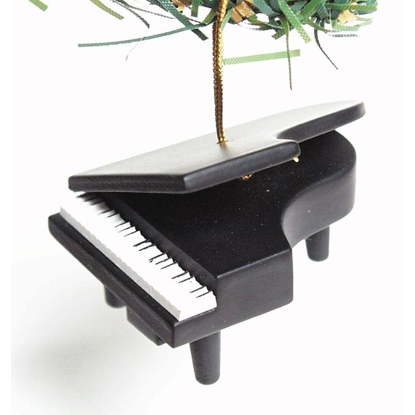 Music Treasures Co. Black Grand Piano Ornament