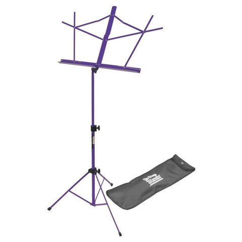 On-Stage SM7122PB Compact Sheet Music Stand with Bag, Purple
