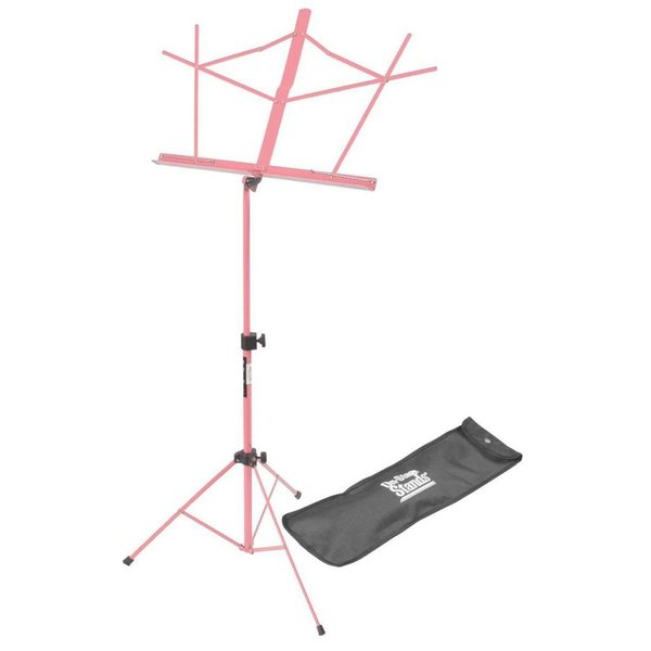 On Stage On-Stage SM7122PKB Compact Sheet Music Stand with Bag, Pink