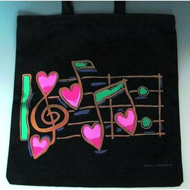 Music Treasures Co. Tote Heart Notes