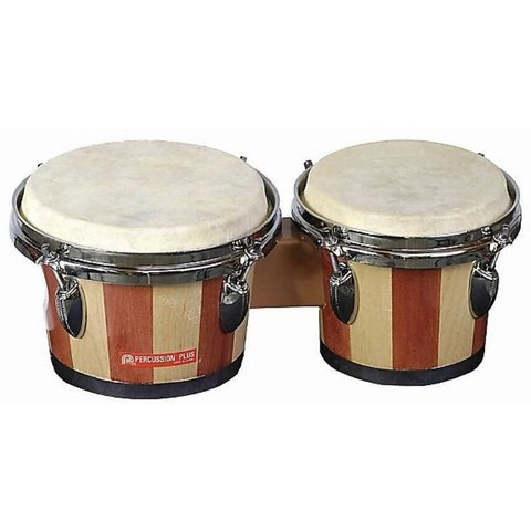 Percussion Plus 714 Tunable Bongos Natural