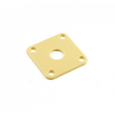 Retro Parts RP141C Gibson® Les Paul Jack Plate, Plastic, Cream