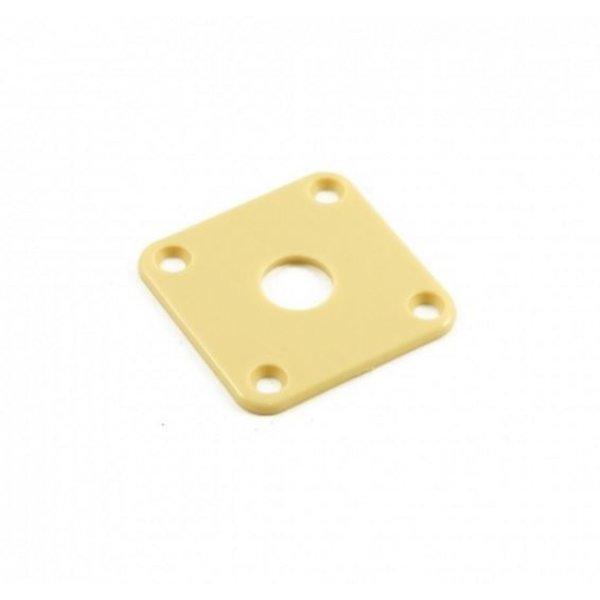 Retro Parts Retro Parts RP141C Gibson® Les Paul Jack Plate, Plastic, Cream